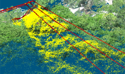 Detect powerlines in point clouds generate from UAV images